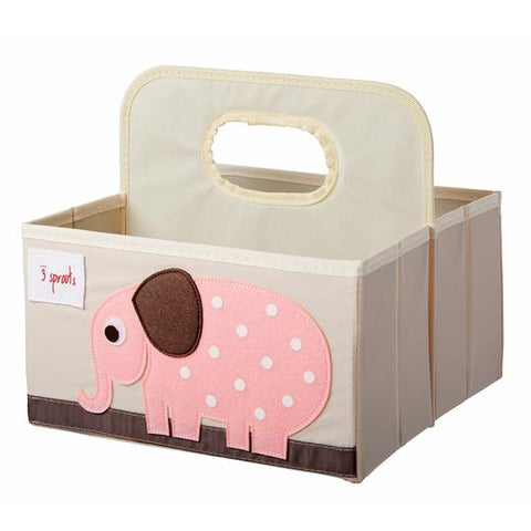 Diaper Caddy: Pink Elephant