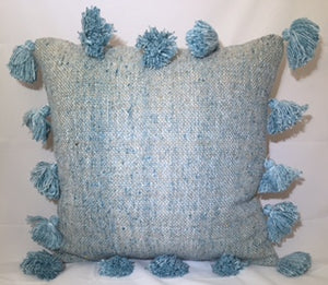 Throw Pillow Tassel - Blue