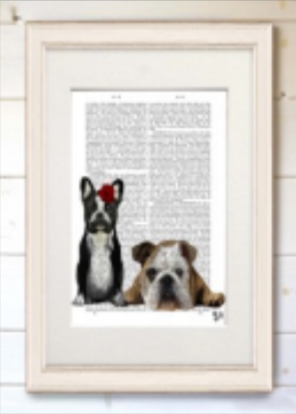 Real Book Page, French & English Bulldog