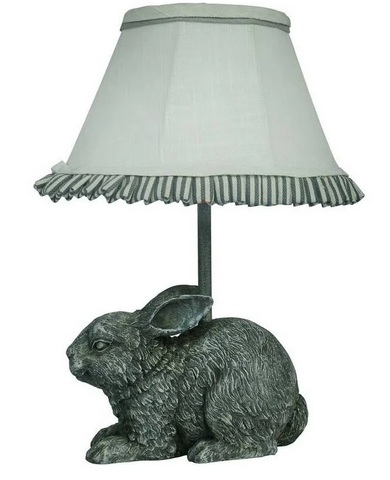 Garden Bunny Accent Lamp w/Shade