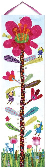 Growth Chart - Hot Pink Flower