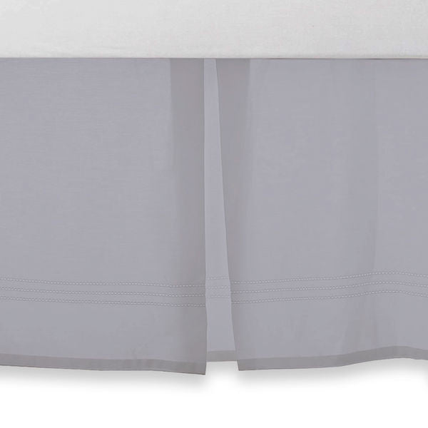 Grey Crib Skirt