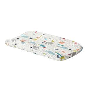 Noah's Ark Quilted Changing Pad Cover