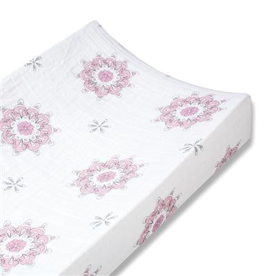 Classic Changing Pad Cover - For The Birds Medallion