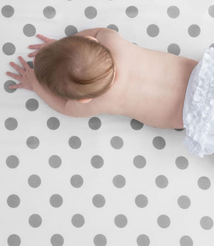 New Dot Crib Sheet - Silver
