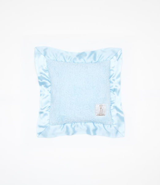 Little Giraffe Chenille Pillow- Blue
