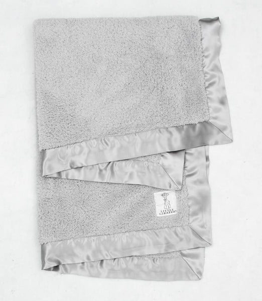 Chenille Baby Blanket, Silver