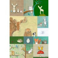 Woodland Animal Patchwork- 20 x 30