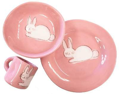 Character 3pc Dish Set - First Plate, Bowl And Cup