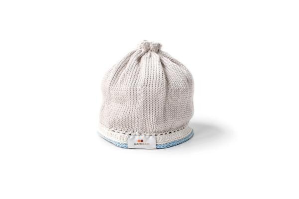 Taupe & Light Blue Hat - OS