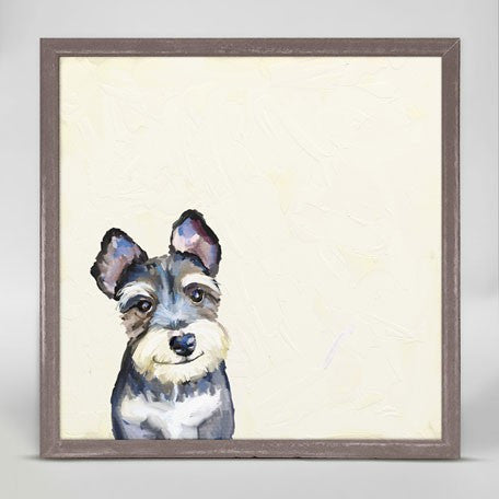 Print Art - Best Friend Schnauzer 6 x 6