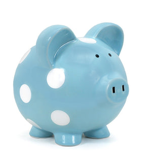 Pig Bank - Blue - Large