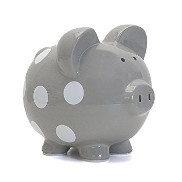 Piggy Bank - Grey - Large
