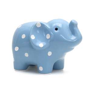 Elephant Bank - Blue - Small