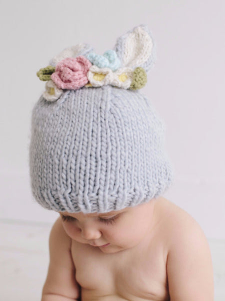 Bailey Bunny Flower Knit Hat