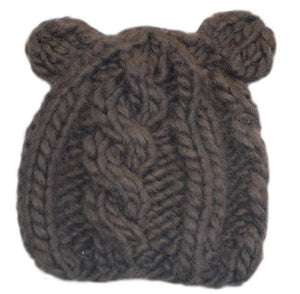 Bear Knit Hat, Brown