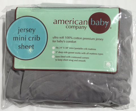 Jersey Knit Mini Crib Sheet