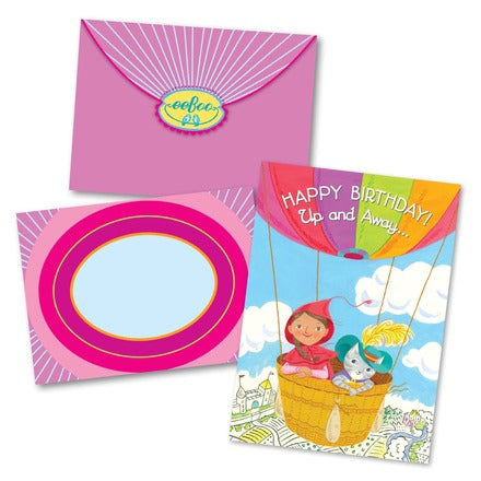Little Red Cat Balloon Bday Card