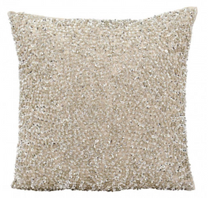 Decorative Pillow, Silver Sequins
