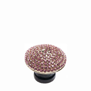 Crystal Dome Gold with Pink Knob