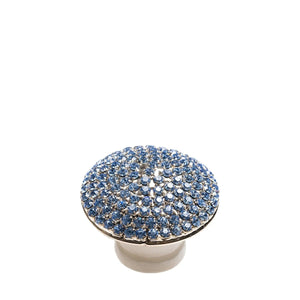 Crystal Dome Silver with Blue Knob