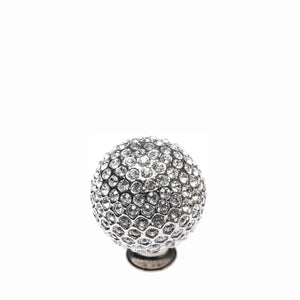 Crystal Ball Silver with White Knob