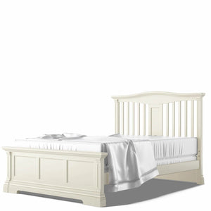 Imperio Full Bed, Open Back Bianco Satinato