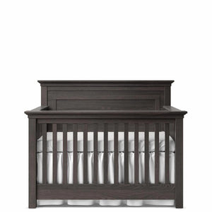 Convertible Crib Solid Back Oil Grey