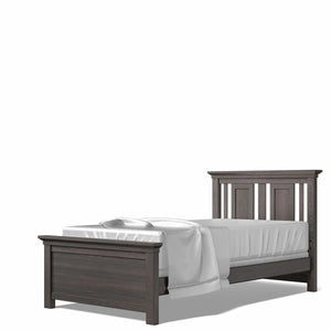 Twin Bed Oil Grey
