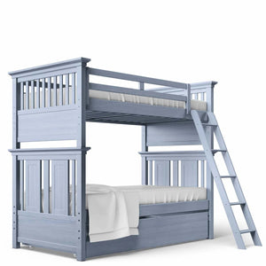 Twin Over Twin Bunk Bed Navy