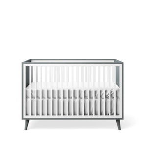 Classic Crib Washed Grey with White