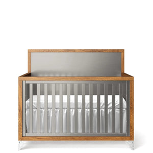 Convertible Crib Solid Back Argento