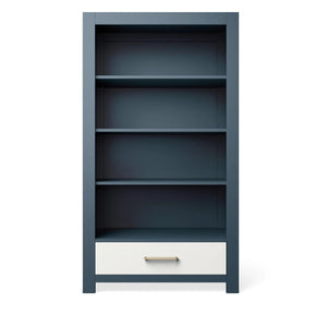 Bookcase Navy with Solid White