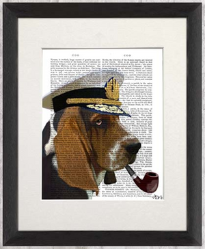 Real Book Page, Basset Hound Sea Dog