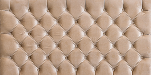 Tufted Panel Beige Velvet