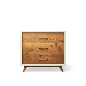 Single Dresser Bianco Satinato with Gold Handles