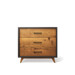 Single Dresser Oil Grey with Black Handles