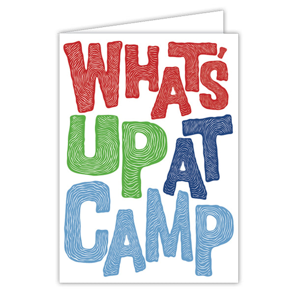 Card - Activity Card What's Up At Camp, Blue