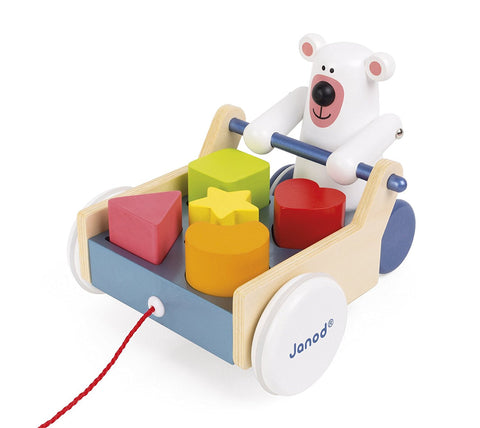 Pull Along Shape Box Bear Baby Toy
