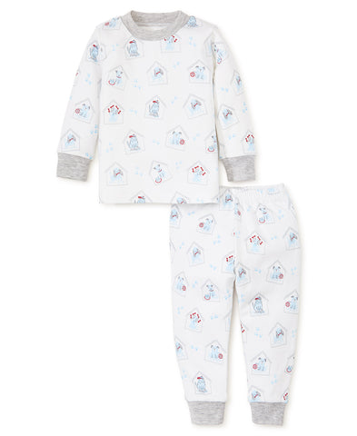 Puppy Print 2Pc Set Pajamas, Blue