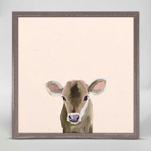 Baby Brown Cow Mini Print 6x6