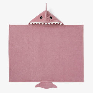 Baby Shark Hooded Towel, Mauve