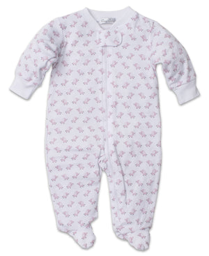Baby Trunks Footie W/Zip, Pink
