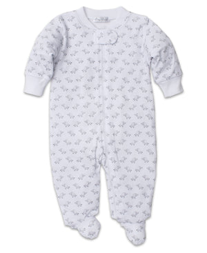 Baby Trunks Footie W/Zip, Silver
