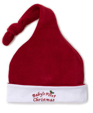 Baby's First Christmas Velour Stocking Hat