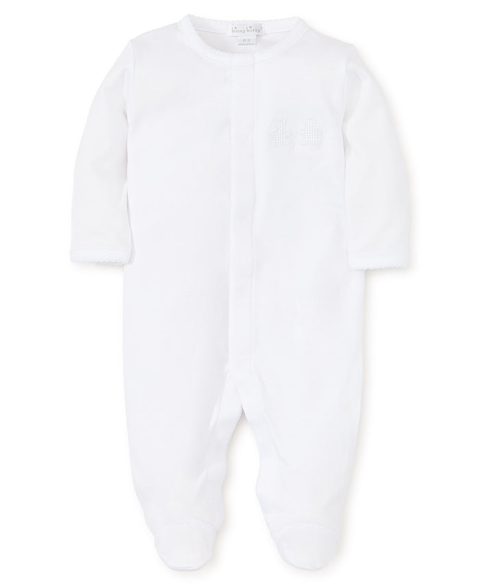 Bear Cubs Footie, White