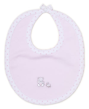 Bear-Y-Cute Bib, Pink