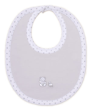 Bear-Y-Cute Bib, Silver