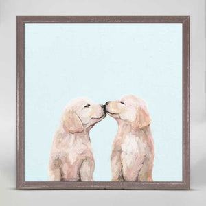 Golden Pup Kisses Mini Print 6x6