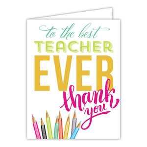 Card- Best Teacher